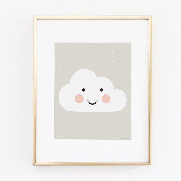 Attrayant Affiche Chambre Enfant #7: Affiche Chambre Bébé Happy Cloud Penny Jane Design