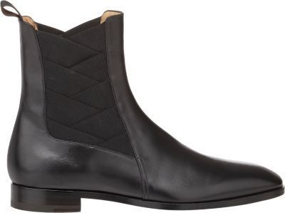$1,195, Christian Louboutin Brian Chelsea Boots Black. Sold by Barneys New York. Click for more info: https://lookastic.com/men/shop_items/288972/redirect