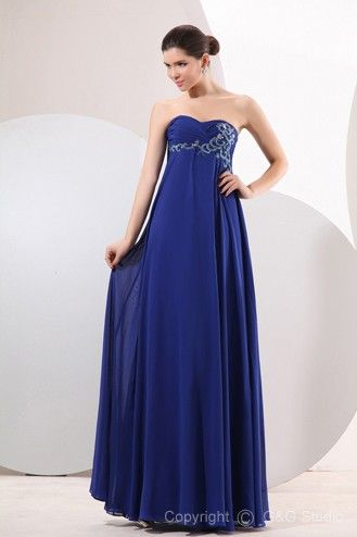 5b36c6df9fe Elegant Royal Blue Sweetheart Sleeveless Empire Waist Celebrity Inspired Evening  Dresses