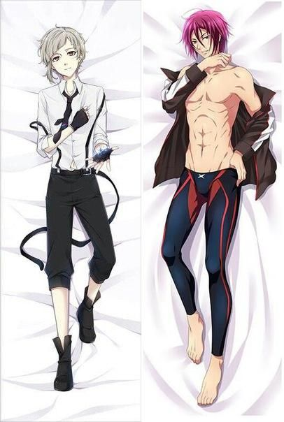 Anime man body pillow
