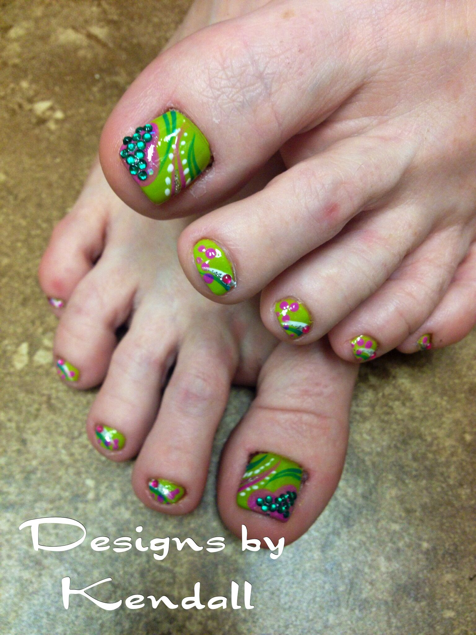 Spring toes with nail designs - Spring Toes With Nail Designs Nails By Kendall Pinterest Pedi