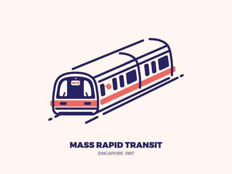 Mass Rapid Transit Mrt Train Illustration Train Drawing Rapid Transit