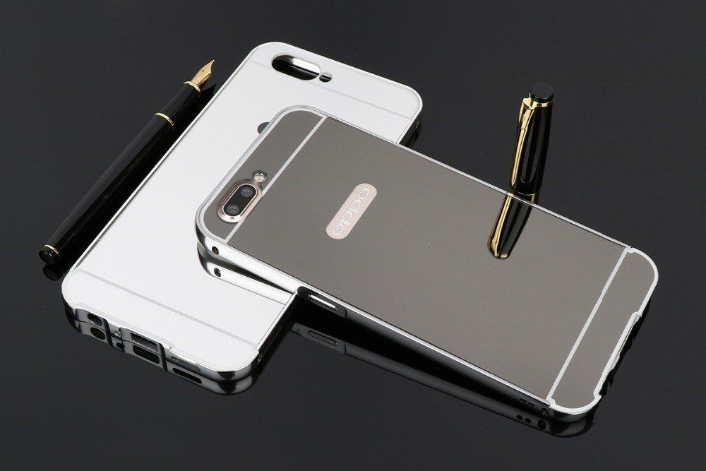 best website 2a6e0 85391 TRISEOLY For OPPO A3s A5 Case Luxury Metal Aluminum Frame+Acrylic ...