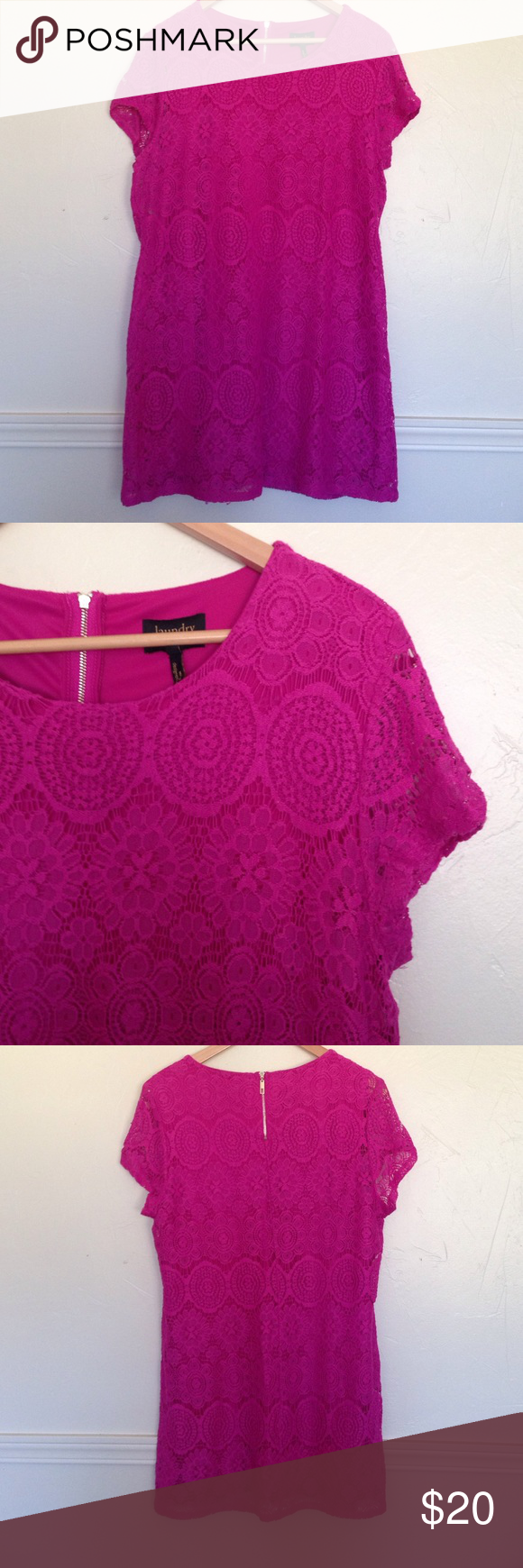 Pink Dress In brand new condition. Great for Easter!! Laundry by Shelli Segal Dresses