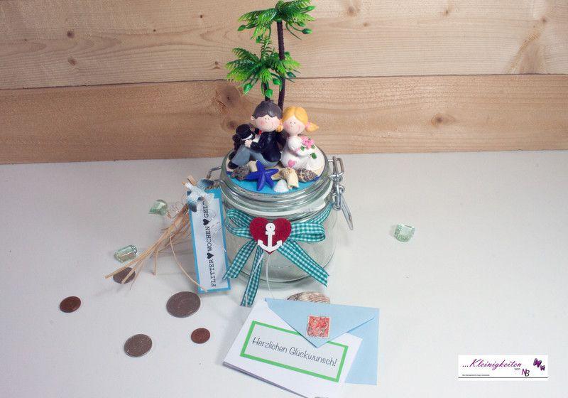 Geldgeschenke Geldgeschenk Flitterwochen Gutschein Geldglas