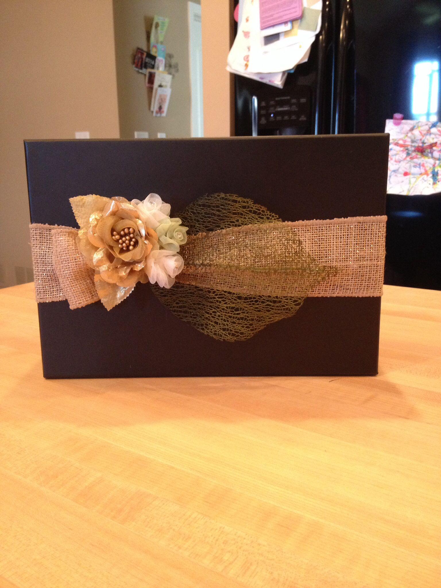 50th wedding anniversary gift card box 50 wedding