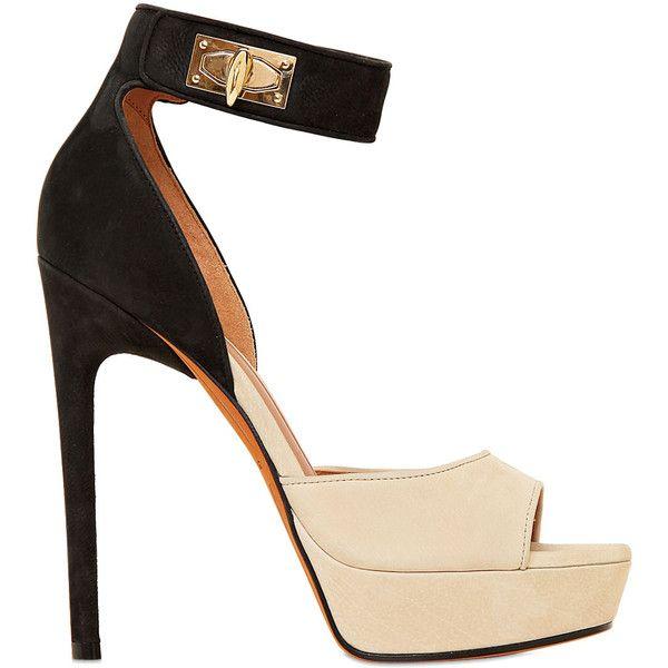 Givenchy Black Nappa Platform Sandals caAhFzoR