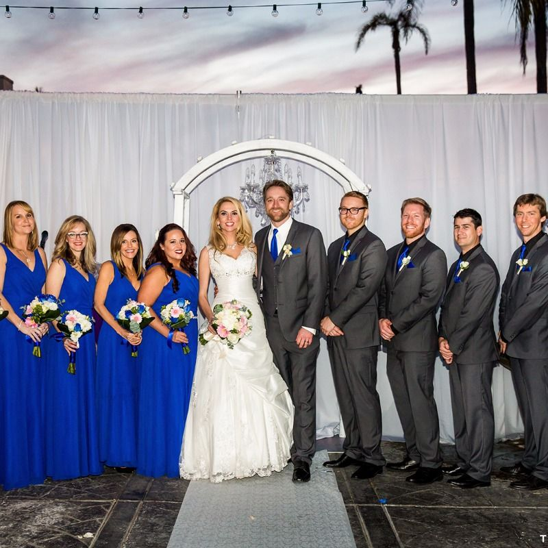 Royal Blue And Charcoal Grey Wedding Party For A Beach Photography True Weddings See More Here Http Frtx Co Wboivb
