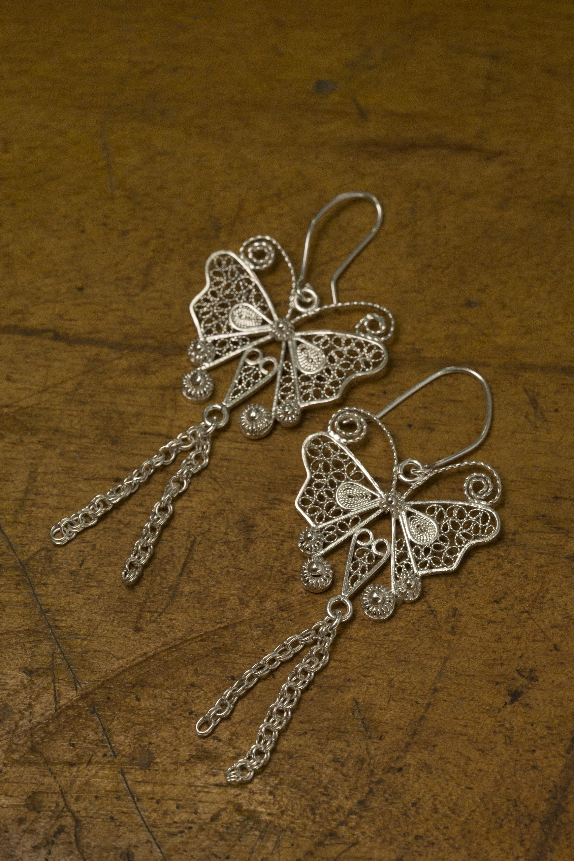 Las señoras joyería collar mariposa plata plateado regalo para Navidad