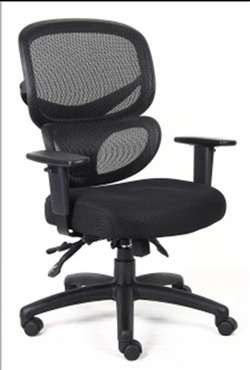 Boss B6338 Multi-Function Mesh Task Chair. Height and width adjustable arms.