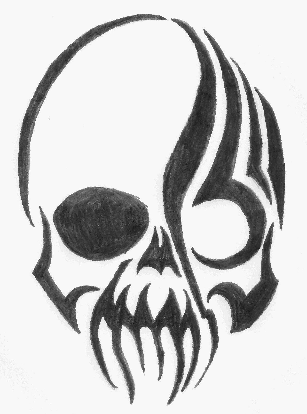 Pin by linda b on patterns cool skull drawings easy skull drawings cool drawings