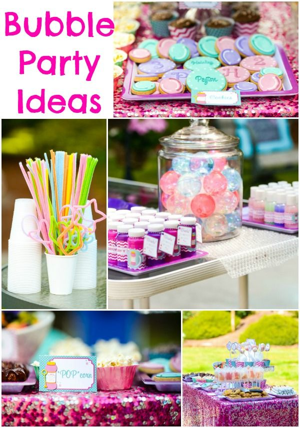 bubble party ideas decorations food activities more kylies