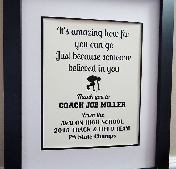 Coach Gifts Thank You Coach Coach Quotes Track And Field