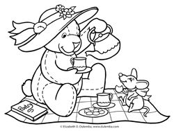 Colouring Pages Teddy Bear Picnic