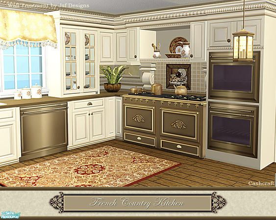 Cashcraft S French Country Kitchen For The Sims But I Wish It