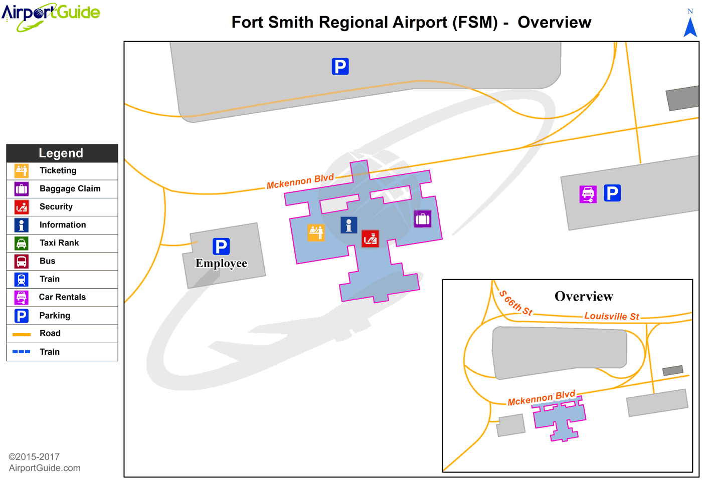 Fort Smith Fort Smith Regional FSM Airport Terminal Map