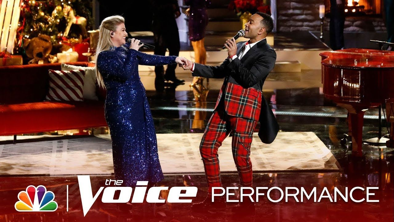 John Legend and Kelly Clarkson Take on a Holiday Classic - The Voice Live Top 10 Eliminations ...