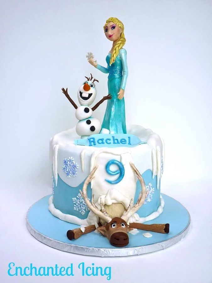 Frozen Themed Cake Cosas Kuky Pinterest Cake Birthdays and