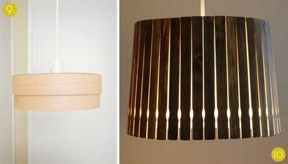 Roundup 10 Diy Wooden Lampshade Tutorials Wooden Lampshade Diy Lamp Shade Diy Lamp