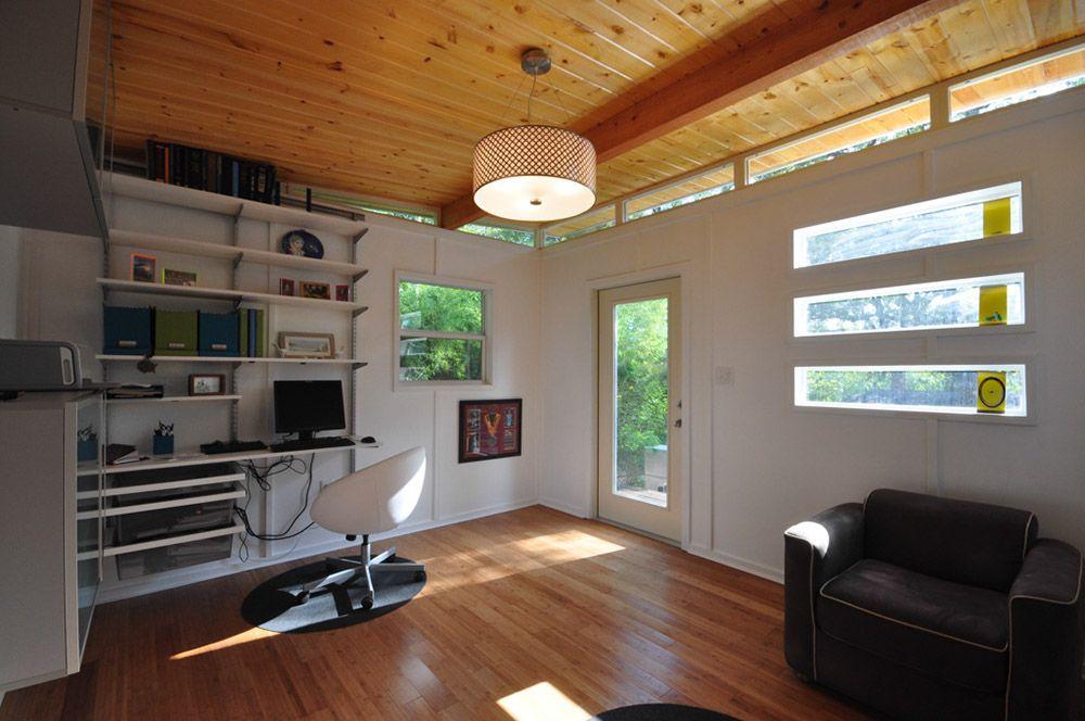 Modern Kwik Room 14x14 Prefab Backyard Office Tiny House Interior