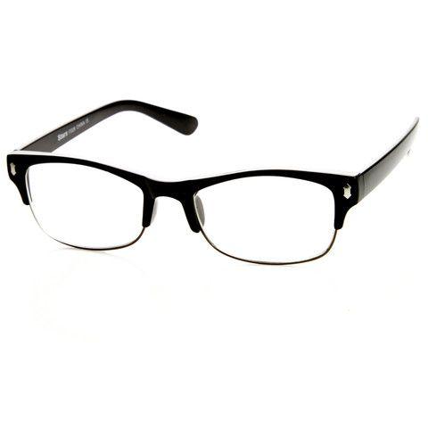 5cc4066d5d Mes GQ Fashion Eyewear Clear Lens Half Frame Glasses (8844) at ZeroUV