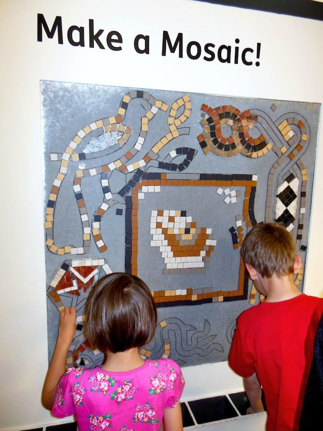 Fab interactive mosaic at the Roman Museum.