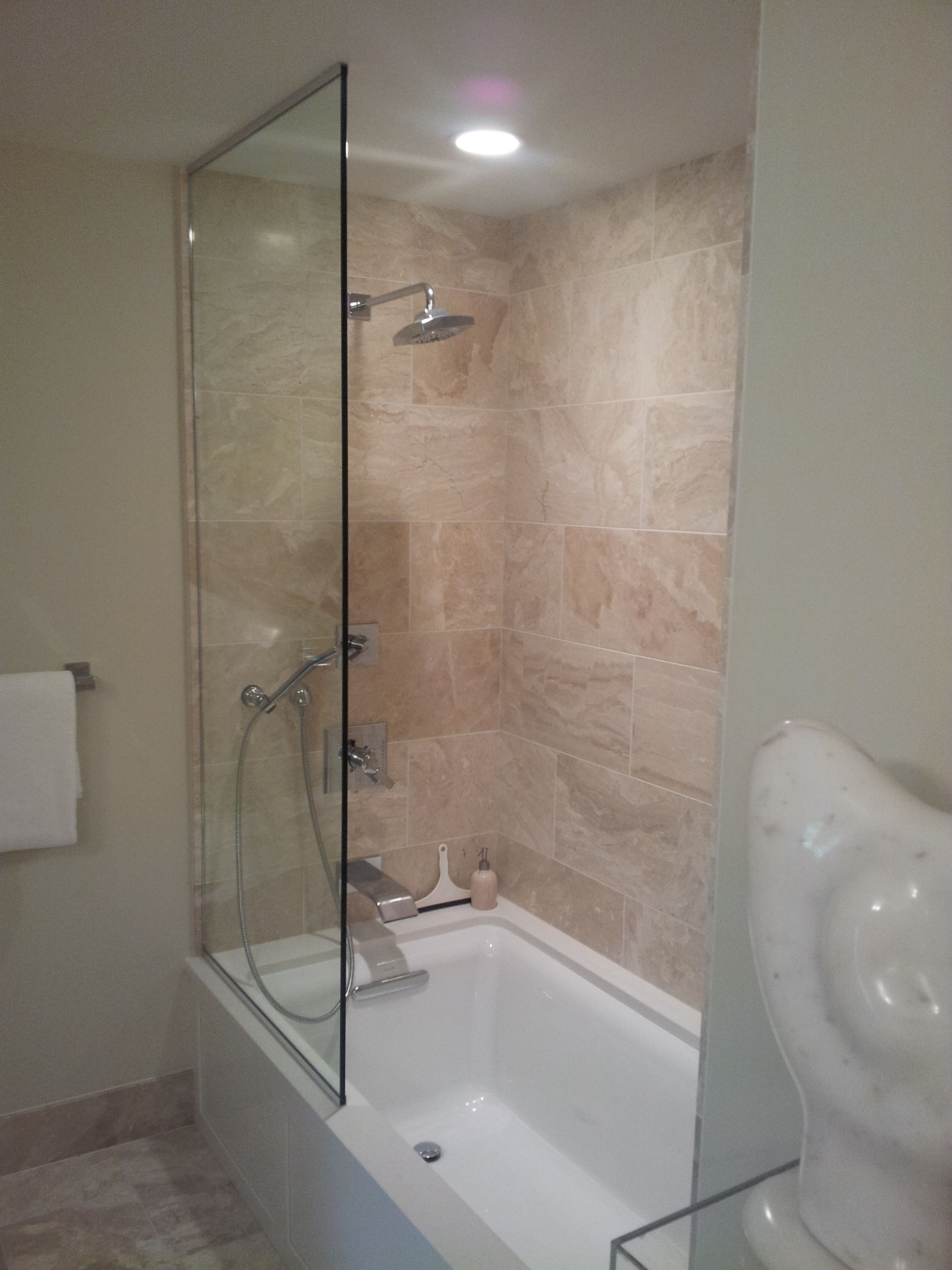 Frameless Splash Guard Frameless Shower Enclosures Custom Shower Doors Shower Enclosure