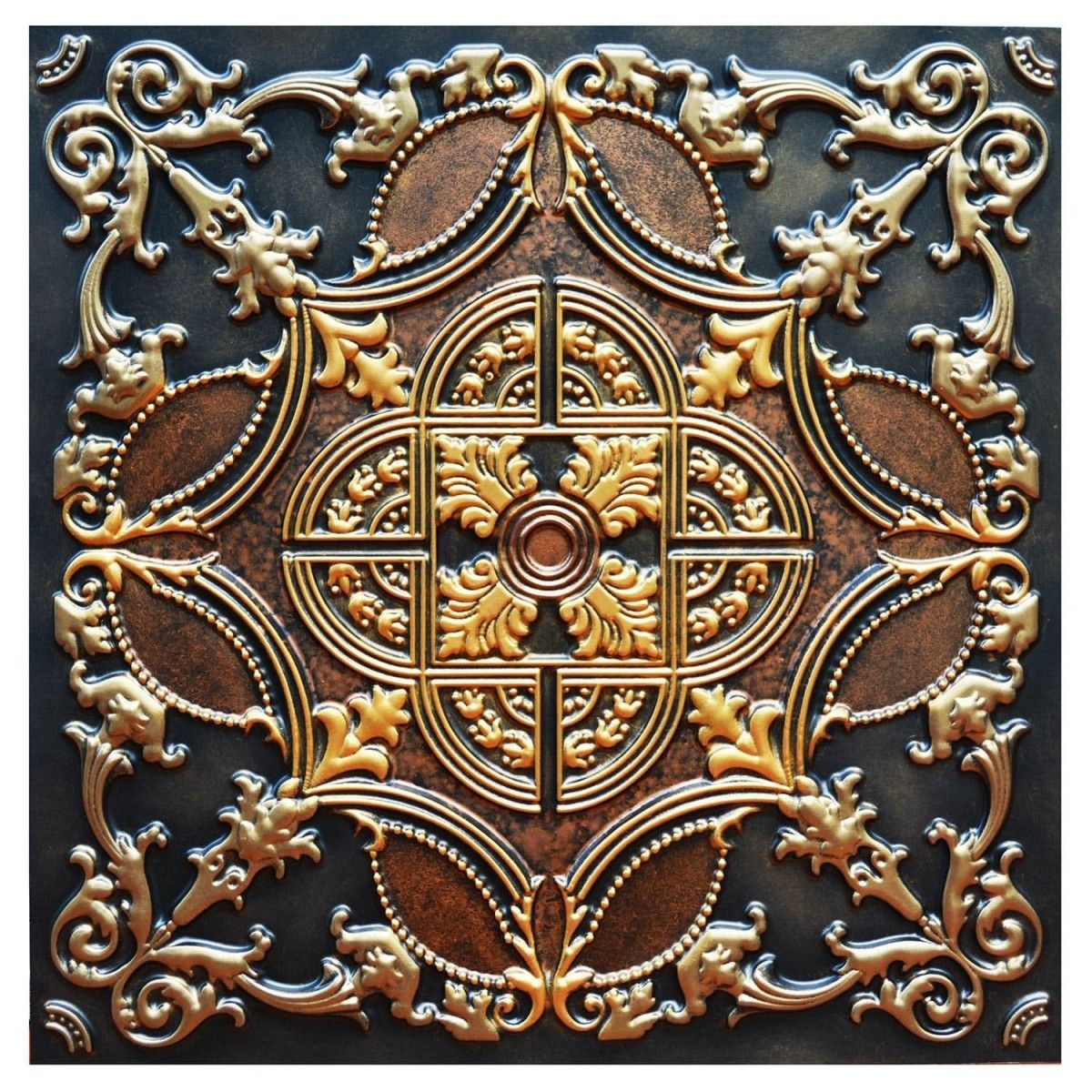 Golden prague fad hand painted ceiling tile ctf 016 paint golden prague fad hand painted ceiling tile ctf 016 dailygadgetfo Image collections