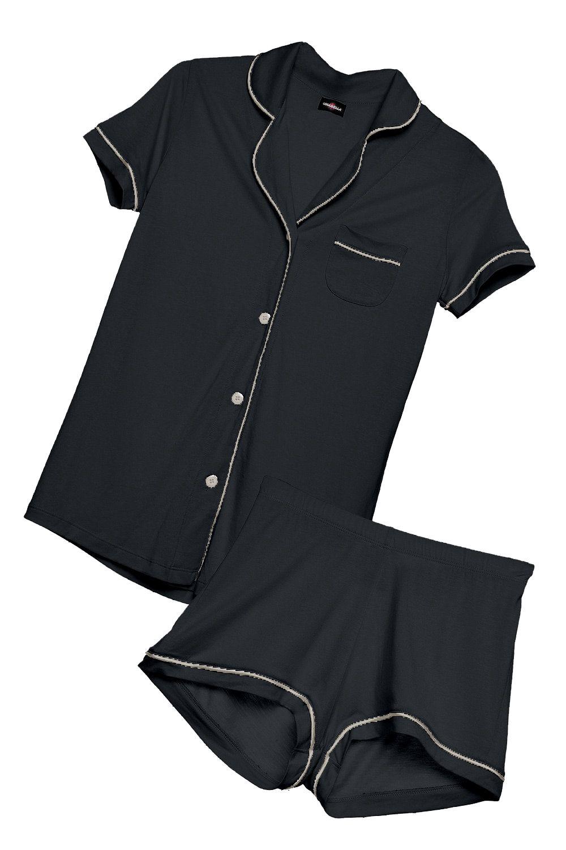 5e588d9dfb5f Cosabella Bella Short Sleeve   Boxer Pajama Set - Regency Purple Periwinkle  M