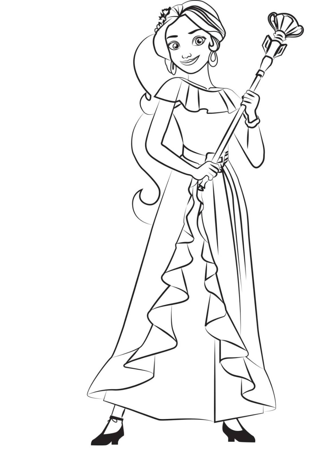 Elena Of Avalor Coloring Pages For Elena Lovers Educative Printable Coloring Pages To Print Cartoon Coloring Pages Batman Coloring Pages [ png ]