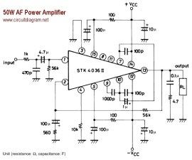 50W AF Power Amplifier with STK4036II (With images