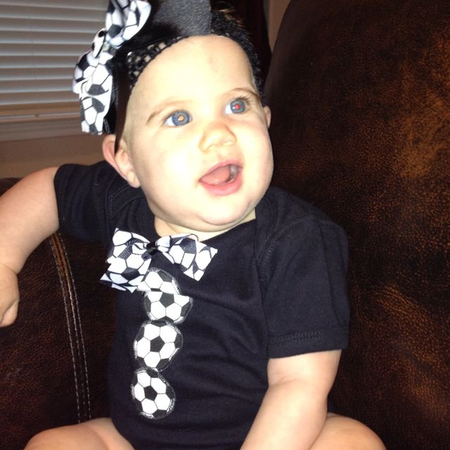 Soccer outfit and bow for brothers games