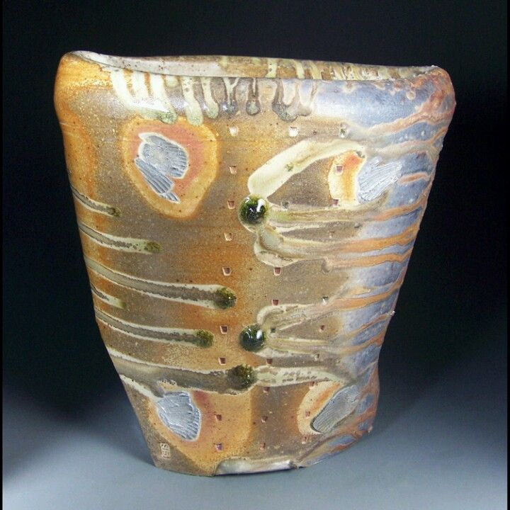 John Benn Shelton Wa Vase Form 5x11x11 Stoneware, ^13wood fired