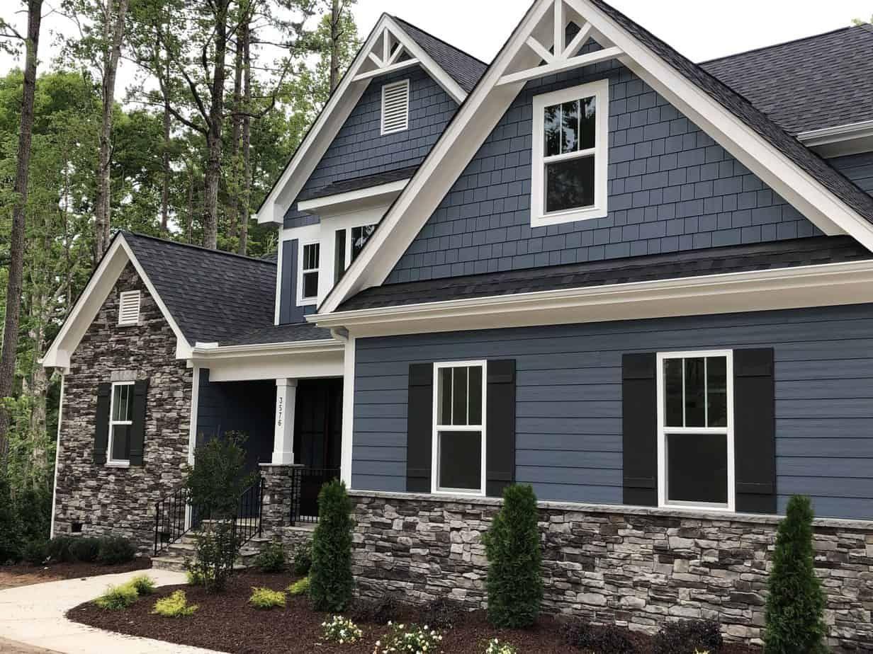 Best Exterior Paint Trends 2021 Blue Grey Color House Gray House Exterior Outside House Paint Outside House Colors