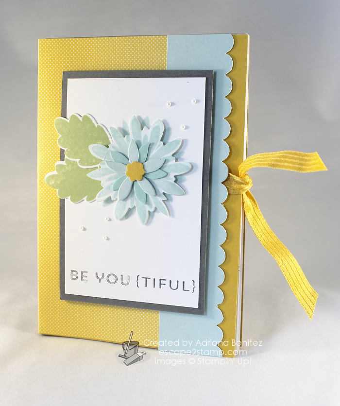 Escape2stamp: The Stamp Review Crew Flower Patch, altered notebook