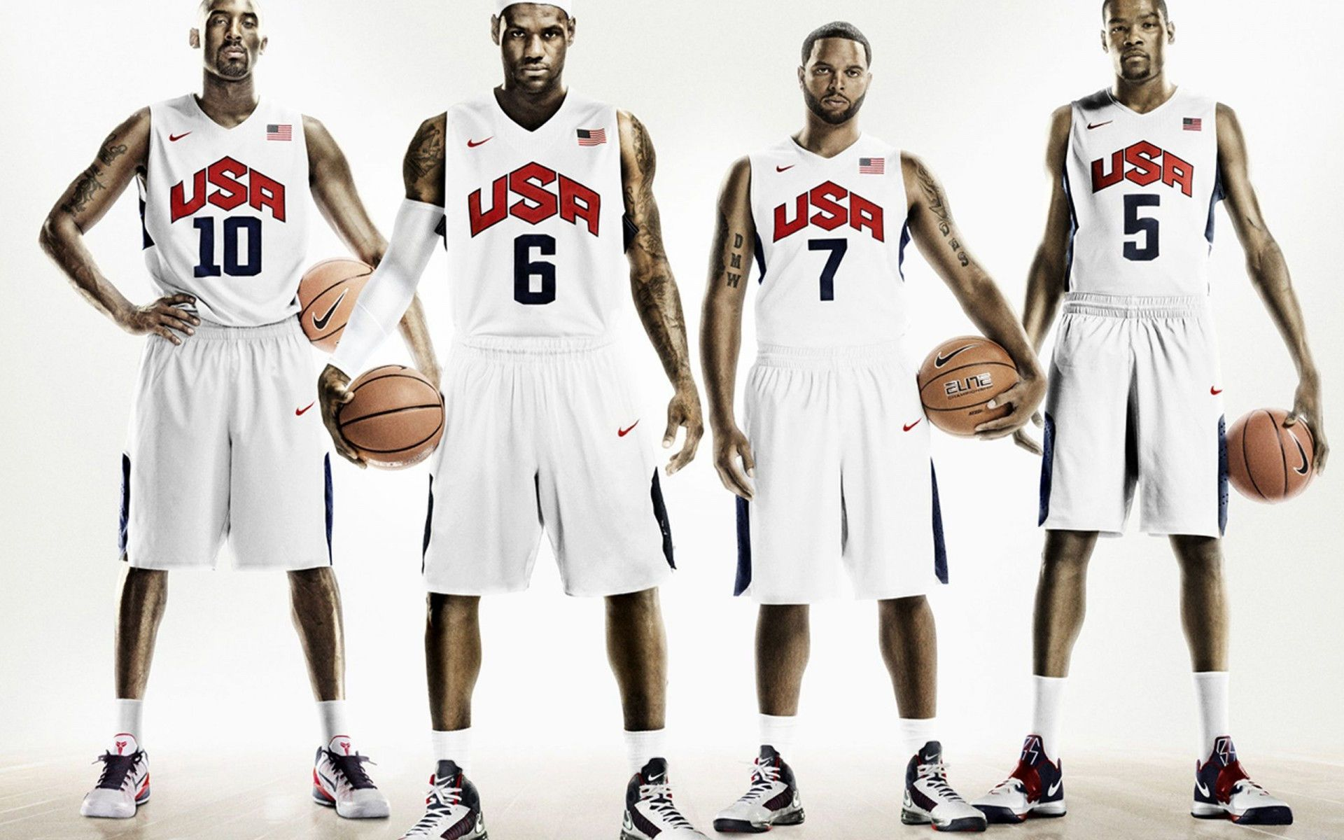 Nike Basketball released the latest Nike Hyper Elite Uniform and Hyperdunk  for Team USA led by LeBron, Kobe, KD and DWill.