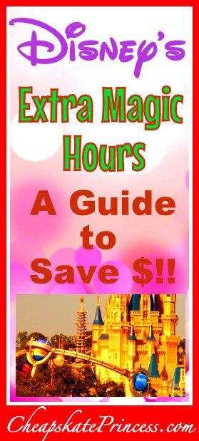 Disney S Extra Magic Hours A Cheapskate Princess Guide Disney