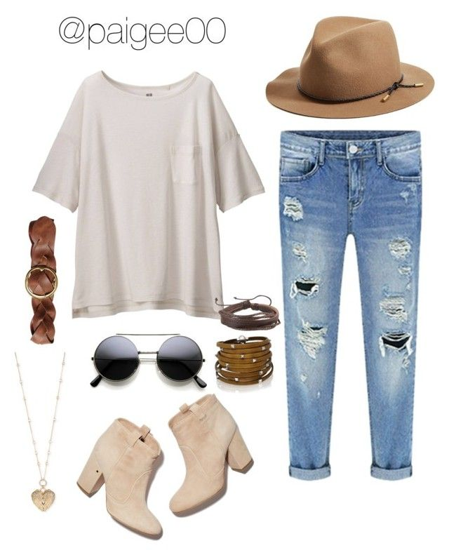 """""""Untitled #197"""" by paigee00 ❤ liked on Polyvore featuring Uniqlo, Laurence Dacade, rag & bone, Polo Ralph Lauren, Betsey Johnson, Sif Jakobs Jewellery and Zodaca"""