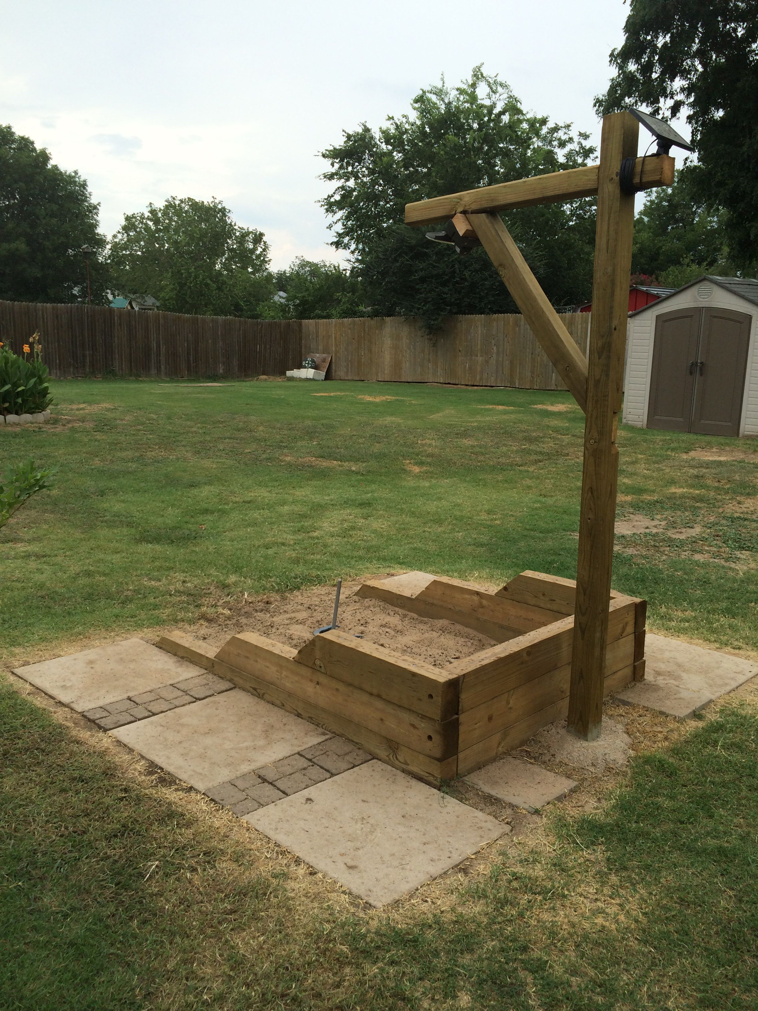 Back Yard Hand Built Horse Shoe Pits With Led Lights