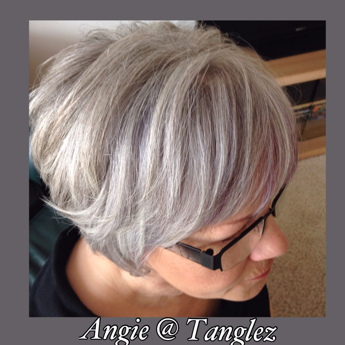 Gray And Silver Lowlights In White Hair Maturehair