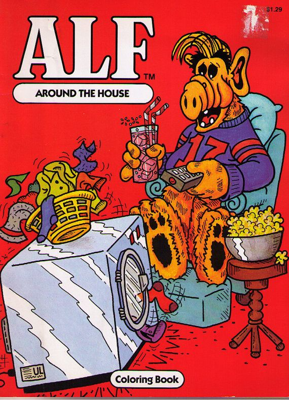 Vintage Book Alf Around The House Coloring Book By Blakenetizen 7 00 Vintage Coloring Books Coloring Books 80s Cartoons