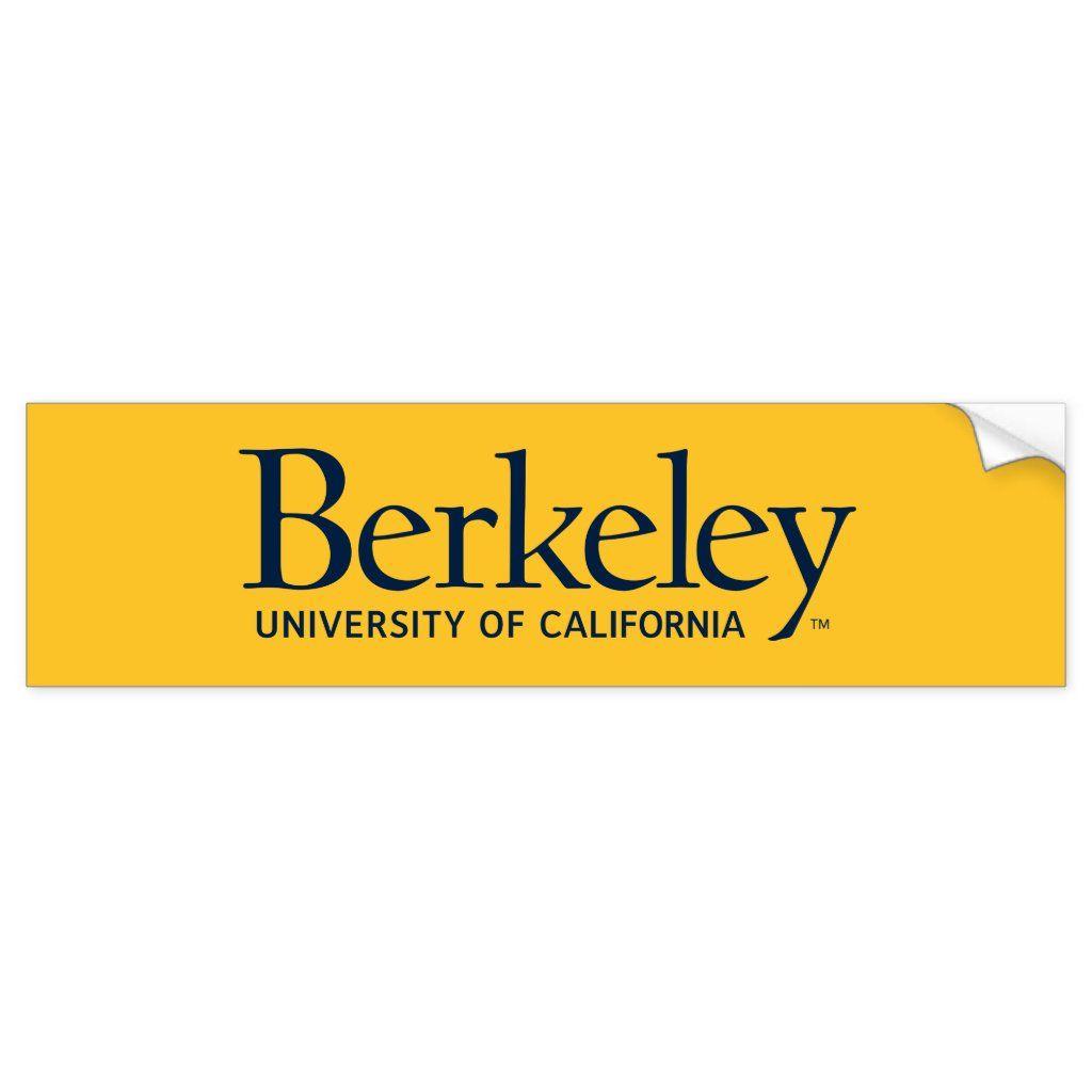 Uc Berkeley Bumper Sticker Zazzle Com In 2021 University Of California Berkeley University Of California Bumper Stickers [ jpg ]