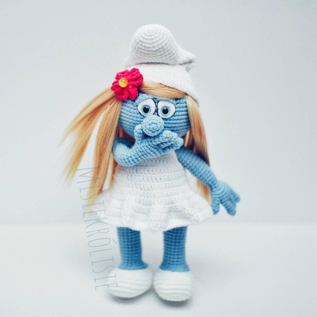 Buziaczki niebieskie smurfette smurf smerfetka smerfy crochet buziaczki niebieskie smurfette smurf smerfetka smerfy crochet knit amigurumi bankloansurffo Image collections