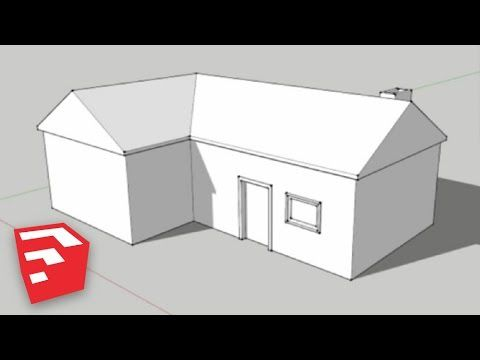 Sketchup 8 Lessons Making A Simple House Youtube Simple House