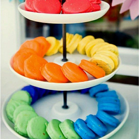 OREOS DIPPED IN WILTON CANDY MELTS.  Or...dip in dyed white chocolate or almond bark. Create colors to compliment the theme colors of party.