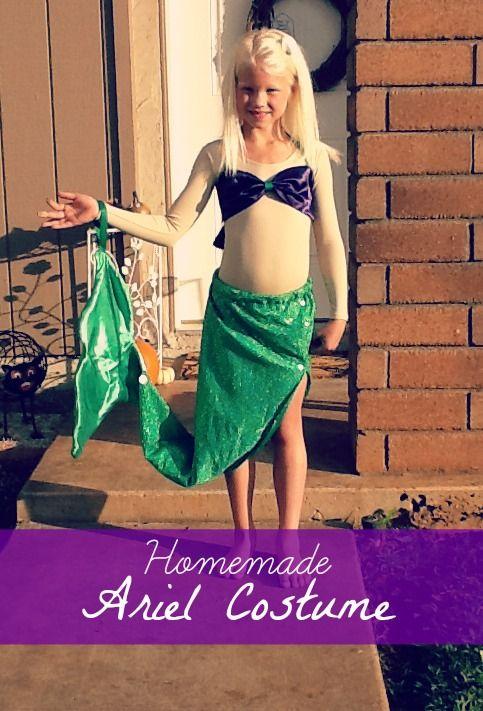 Homemade Ariel Costume  sc 1 st  Pinterest & Homemade Ariel Costume | Ariel costumes Costumes and Halloween costumes