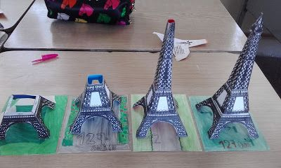 bricolage enfants construire la tour eiffel activit s brico l 39 cole pinterest la tour. Black Bedroom Furniture Sets. Home Design Ideas
