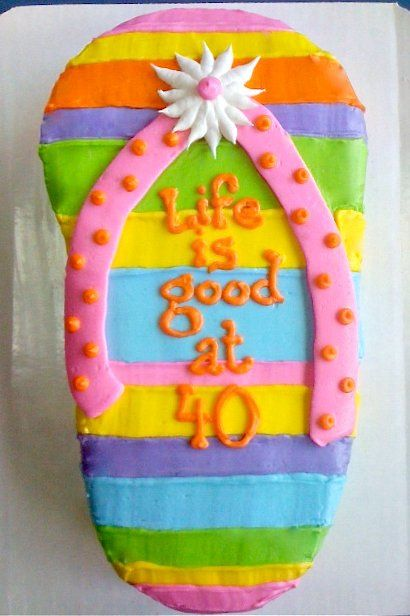 Flip Flop Cake With Images Flip Flop Cakes Flip Flop Birthday