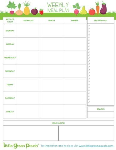 Healthy Meal Plan By Milagros  Mom    Meals And