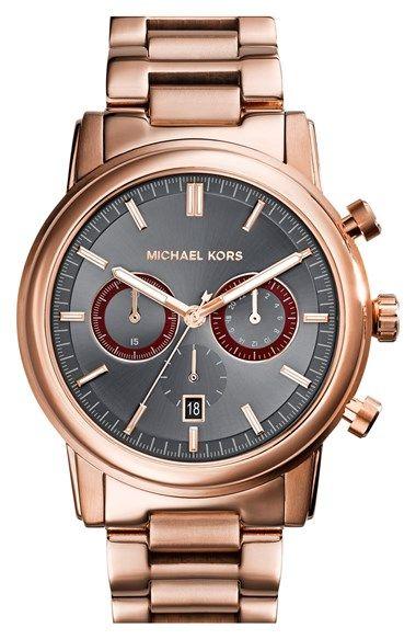 6b2e53f0be44 MICHAEL Michael Kors Michael Kors  Pennant  Chronograph Bracelet Watch